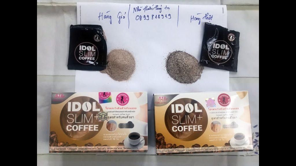 phân biệt cafe giảm cân idol thật giả qua vỏ hộp