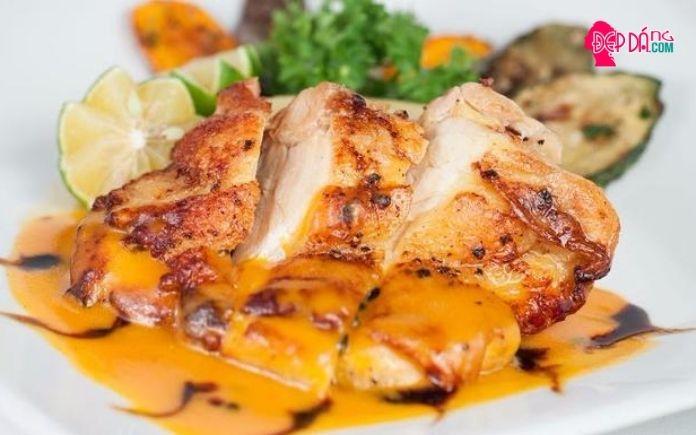 món ăn giảm cân bằng ức gà 2